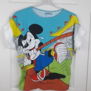 Vintage Disney Mickey Mouse All Over Print Shirt